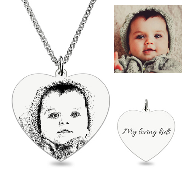 Heart Laser Engraved Personalized Photo