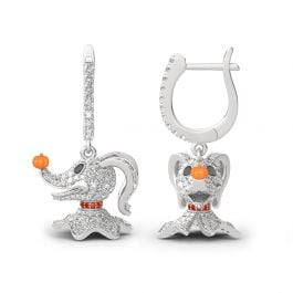 Jeulia Zero From The Nightmare Before Christmas Sterling Silver Earrings