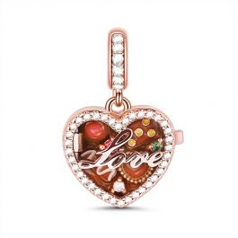 """""""A Box Of Love"""" Sterling Silver Locket Charm Pendant"""
