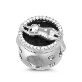 """""""Just Want to Snuggle You"""" Cat Essential Oil Diffuser Sterling Silver Charm"""