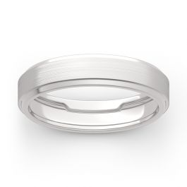 Jeulia Men's Classic Band in 14K White Gold
