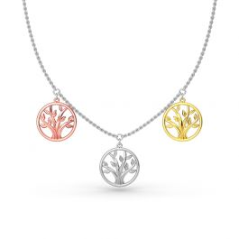Jeulia Three Blessings Necklace