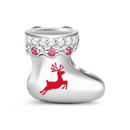 Christmas Stocking Charm Sterling Silver