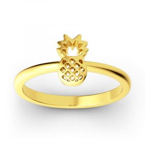 Jeulia Stackable Pineapple Sterling Silver Ring