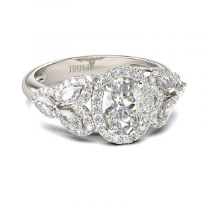 Jeulia Antique Oval Cut Sterling Silver Ring