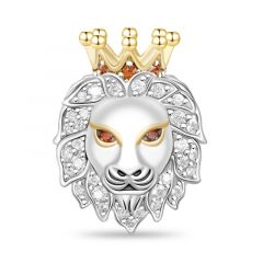 Lion Charm Sterling Silver