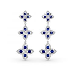 Jeulia Lucky Flower Sterling Silver Drop Earrings