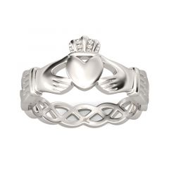 Jeulia Simple Claddagh Stainless Steel Men's Band