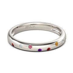 Jeulia Multicolor Round Cut Women's Band