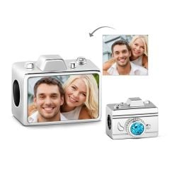 Camera Photo Charm Sterling Silver
