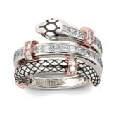 Jeulia Knot Snake Sterling Silver Women's Band