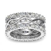 Jeulia Stackable Round Cut Sterling Silver Ring