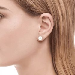 Jeulia Simple Cultured Pearl Sterling Silver Stud Earrings