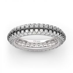 "Jeulia ""Jack Skull"" Inspired Sterling Silver Eternity Band"