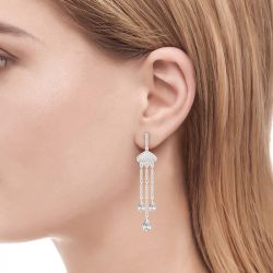 Jeulia Taj Mahal Inspired Sterling Silver Dangle Earrings