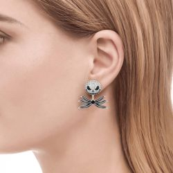 Jeulia The Nightmare Before Christmas Jack Skellington Sterling Silver Jacket Earrings