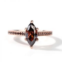 """Jeulia """"Leisure Time"""" Marquise Cut Sterling Silver Ring"""
