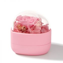 Jeulia Heart Shape Eternal Flower Ring Box