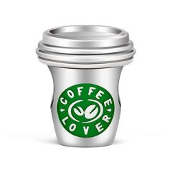 Coffee Cup Charm Sterling Silver