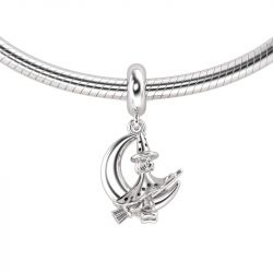 Moon & Magic Witch Charm Sterling Silver