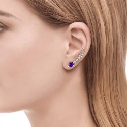 Jeulia Royal Amethyst Climber Earrings