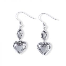 Jeulia Rope Heart Earrings