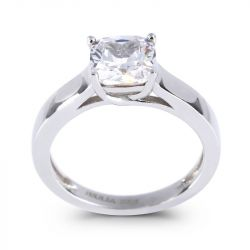 Jeulia Cushion Cut Sterling Silver Ring