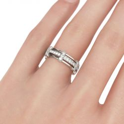 Jeulia Knot Sterling Silver Men's Band