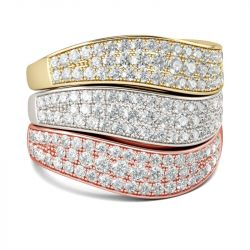 Jeulia Stacking Sterling Silver Women's Band Set