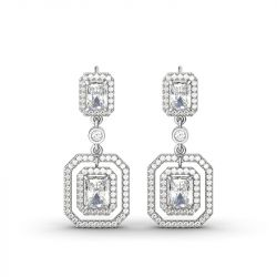 Jeulia Coronation Drop Earrings