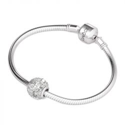 Pave Stones Charm Sterling Silver