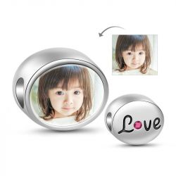 Love Photo Charm Sterling Silver